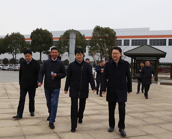 扬州市委常委、宣传部部长张长金等一行到公司走访调研
